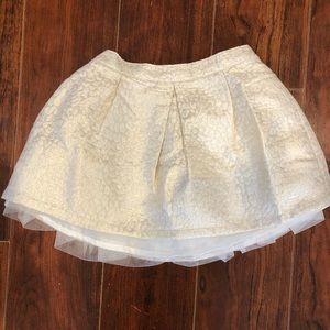 Gymboree Cream & Gold Jacquard skirt
